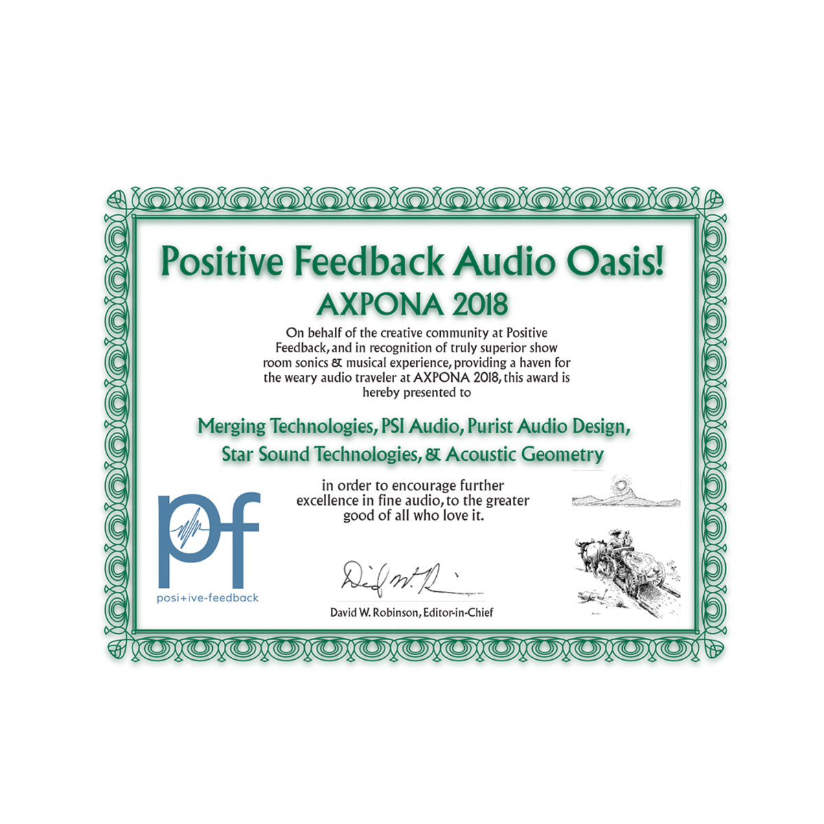 Positive Feedback Audio Oasis - Axpona 2018