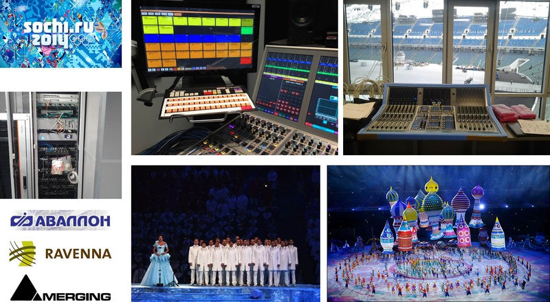 Merging, Ravenna, Avallon at Fischt Stadium Opening Ceremony Sochi 2014