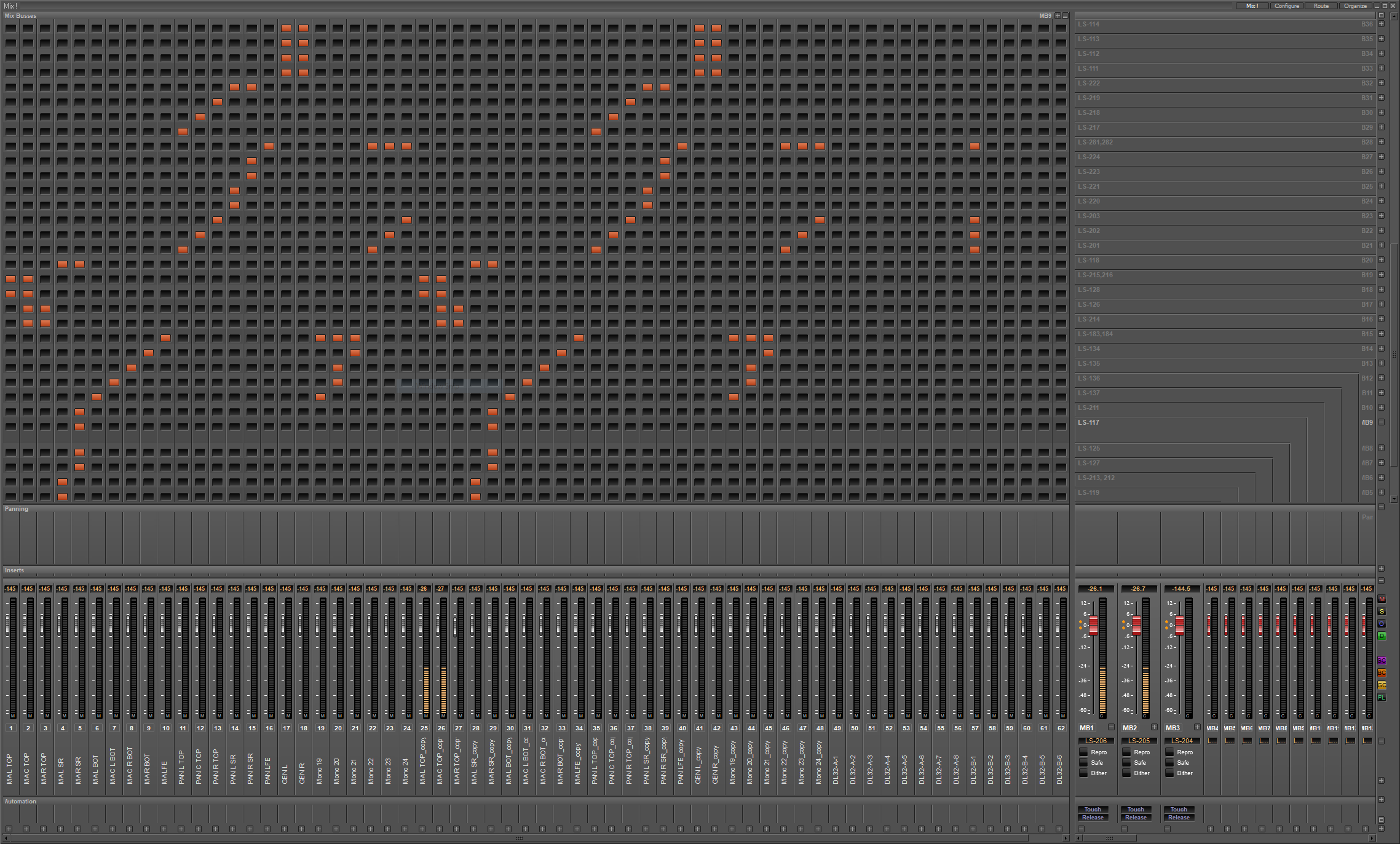Mixer Matrix Grid