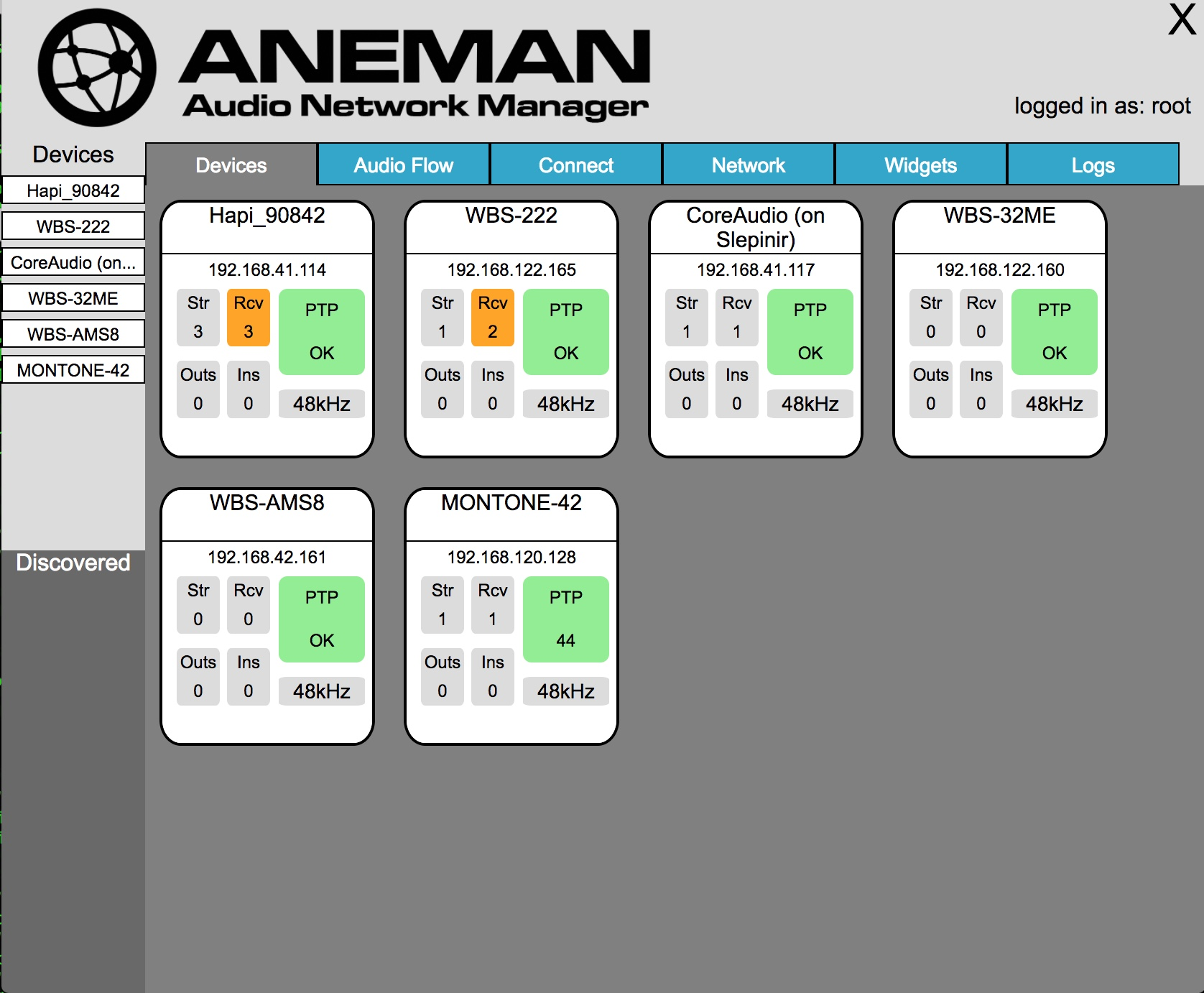 ANEMAN Audio Network Manager